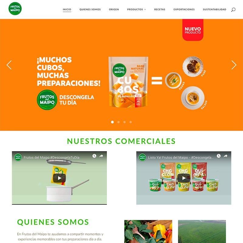 Web Frutos del Maipo